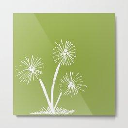 Three Dandelions Metal Print