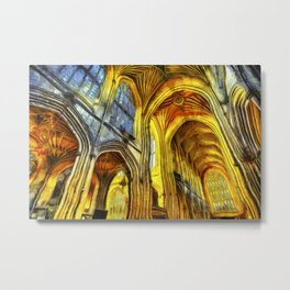 Bath Abbey Van Gogh Metal Print