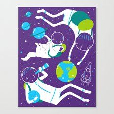 A Day Out In Space - Purple Canvas Print