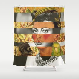 Frida Kahlo's Self Portrait with Parrot & Joan Crawford Shower Curtain