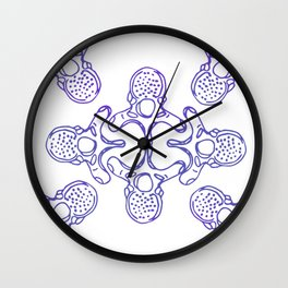 Mandala Vertebrae in periwinkle pattern Wall Clock