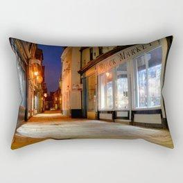 Sandgate, Whitby at Night Rectangular Pillow