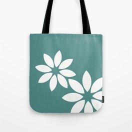 Flora2 (teal) Tote Bag