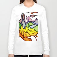 waves Long Sleeve T-shirts featuring Waves by Aaron Carberry