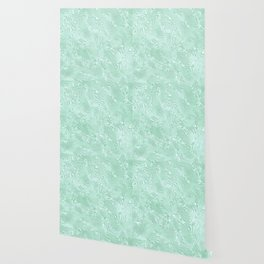 Mint Green Silk Moire Pattern Wallpaper