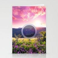 calendar Stationery Cards featuring DECEMBER CALENDAR 3 by Ylenia Pizzetti