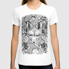 hidden fox Womens Fitted Tee LARGE White