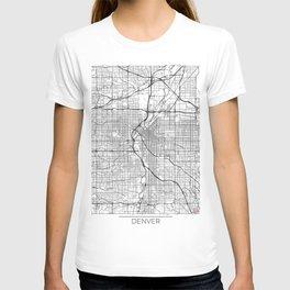Denver Map White T-shirt