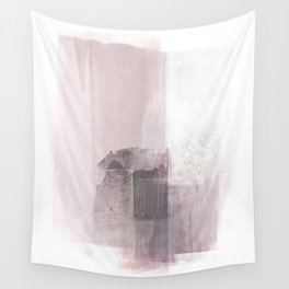 Blush Pink Minimalist Abstract Painting Wall Tapestry