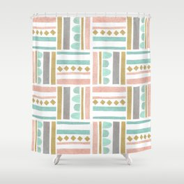 Geometric pattern Shower Curtain