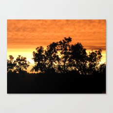 sunset // iowa Canvas Print