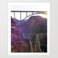 Hoover Dam Electicity Towers Art Print
