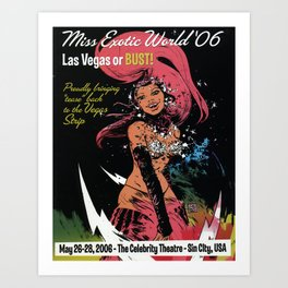 """""""Miss Exotic World"""" 2006 by Paul Pope Art Print"""