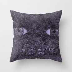 Stars in my eyes. Throw Pillow
