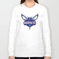 nba Long Sleeve T-shirts featuring NBA - Hornets by Katieb1013