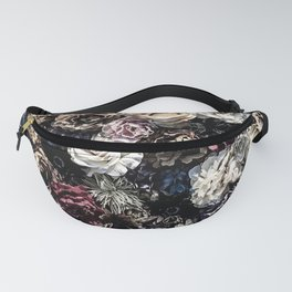 Flower Wall // Desaturated Vintage Floral Accent Background Jaw Dropping Decoration Fanny Pack