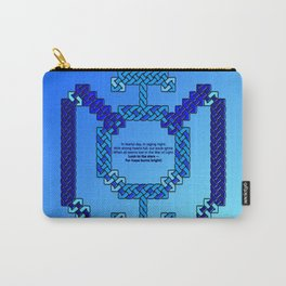 Blue Lantern Symbol & Oath Carry-All Pouch