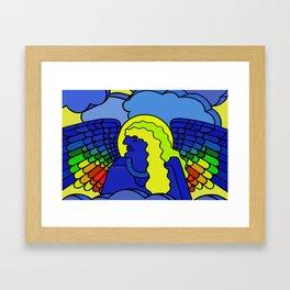 GALGALIEL the blue angel of vibrations Framed Art Print