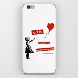 'Art is whatever you can get away' with by Angela Stimson iPhone Skin
