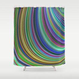 Striped fantasy Shower Curtain