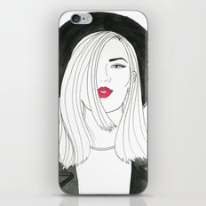 The Girl With The Hat iPhone & iPod Skin