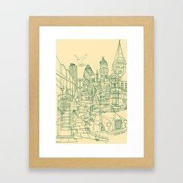 London! Cream Framed Art Print
