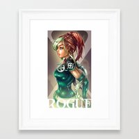 rogue Framed Art Prints featuring ROGUE by Tim Shumate