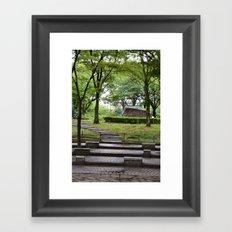 A Walk Through The Park Framed Art Print