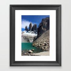 Mirador Las Torres, Patagonia Framed Art Print