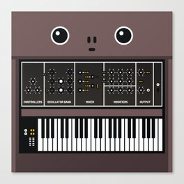 synthesizer Canvas Print