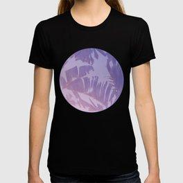 Tropical Sunset Banana Leaves Design T-shirt