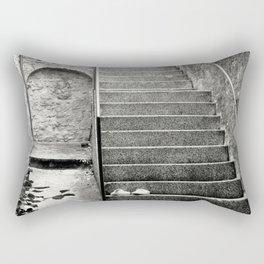 Italian street stairs Rectangular Pillow