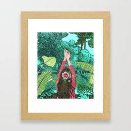 Comic Book Jungle Framed Art Print
