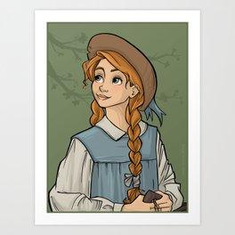 """Anne With an """"E"""" Art Print"""
