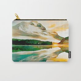 Mountain Lake, Sunset Reflection Carry-All Pouch