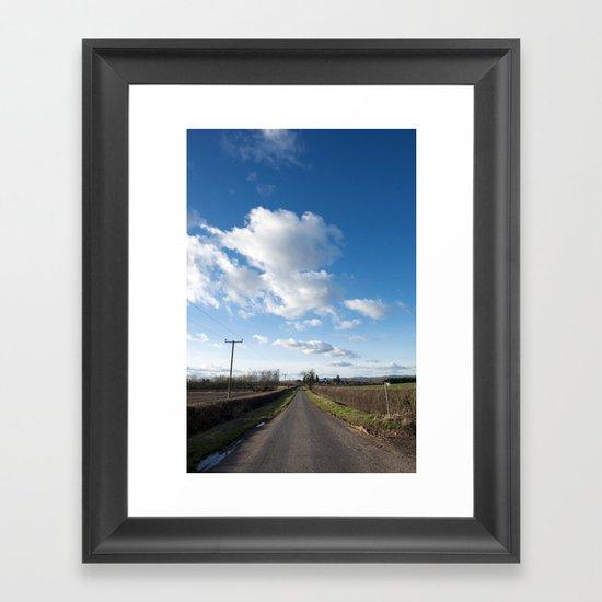 many miles of sky... Framed Art Print