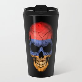 Dark Skull with Flag of Armenia Travel Mug