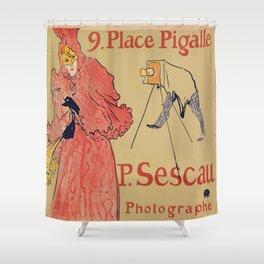 Vintage poster - Photagrapher Sescau Shower Curtain