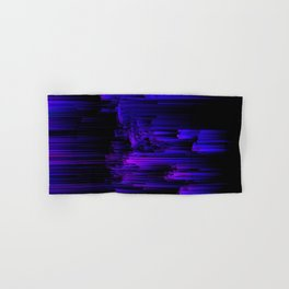 Ultraviolet Light Speed - Abstract Glitch Pixel Art Hand & Bath Towel