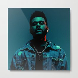 The.Weeknd. portrait Metal Print