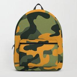Green & Orange Camo Backpack