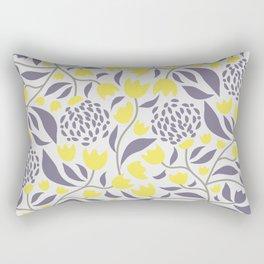 Yellow flowers field Rectangular Pillow