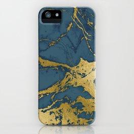 Blue Azul Marble iPhone Case