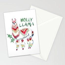 HOLLY LLAMA Holiday Watercolor Stationery Cards