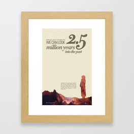 LOOK INTO THE PAST - Andromeda | Space | Time | Stars | Science | Planets | Million | Years | Travel Framed Art Print