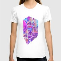 geode T-shirts featuring Handpainted Watercolor Geode by Hillary Murphy