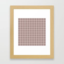 Grid Pattern Beige and Tan 2 Framed Art Print