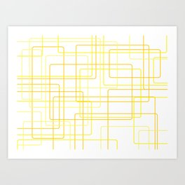 Yellow Line Pattern Art Print