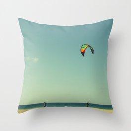 The kite coach Throw Pillow