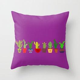 Cactus in Purple Throw Pillow
